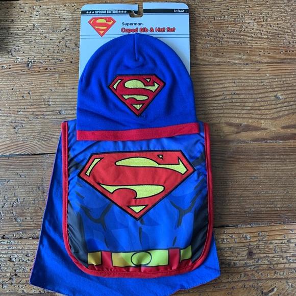 DC Comics Other - Superman Caped Bib & Hat Set - Special Edition✨